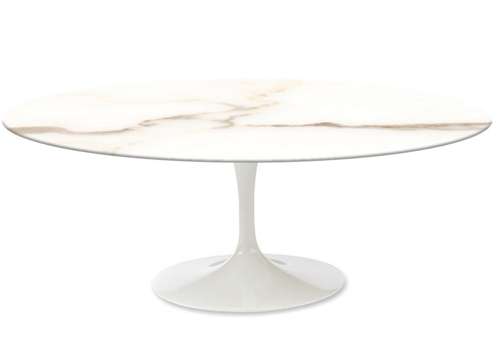 Saarinen Oval Couchtisch aus Marmor Knoll - Milia Shop