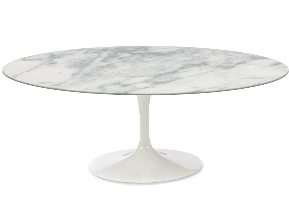 Saarinen Oval Coffee Table Marble Knoll