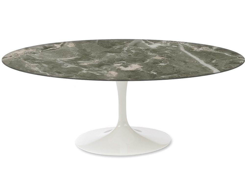 saarinen oval couchtisch aus marmor knoll milia shop