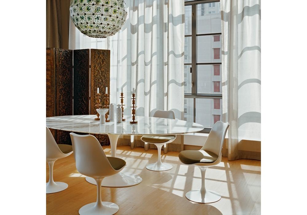 Tavolo Saarinen Marmo : Saarinen tavolo ovale in marmo knoll milia shop