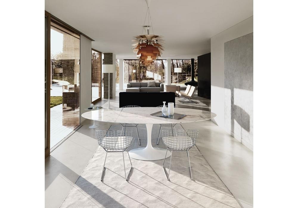 Saarinen Oval Tisch Aus Marmor Knoll Milia Shop