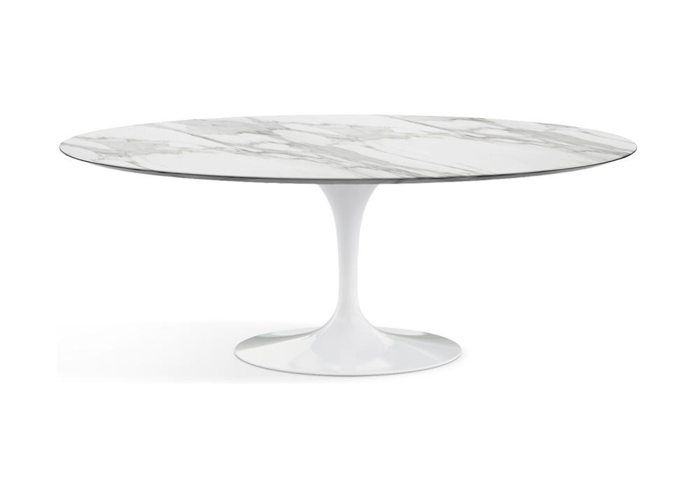 Saarinen oval tisch aus marmor knoll milia shop for Tisch aus marmor