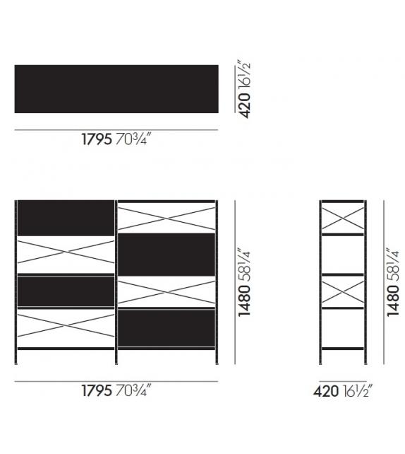 Vitra: Eames Storage Unit ESU Regal
