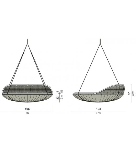 Dedon Hanging Lounger Swingrest