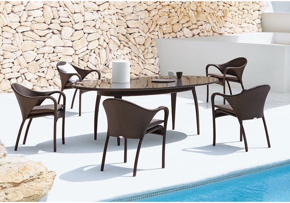 outdoor armchairs and chaise lounge tango armchair dedon