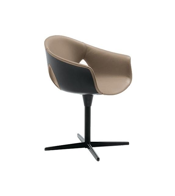 Ginger Ale Office Armchair With Column Poltrona Frau