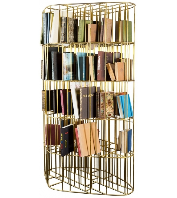 Golden Cage Bookcase Ceccotti Collezioni