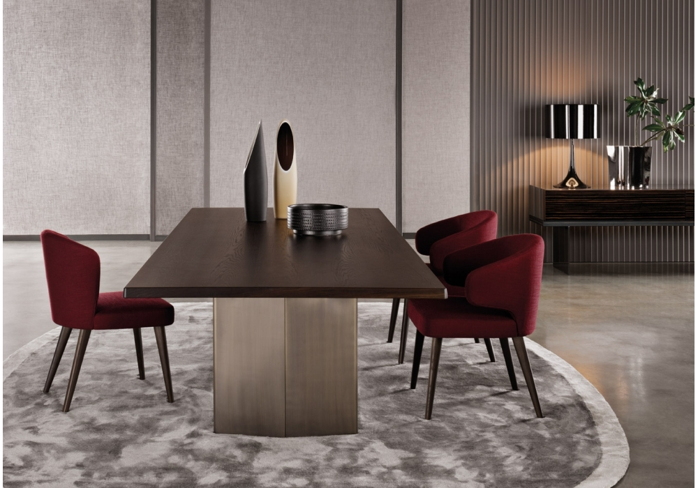 Morgan rectangular table minotti milia shop for Poltroncine per tavolo pranzo