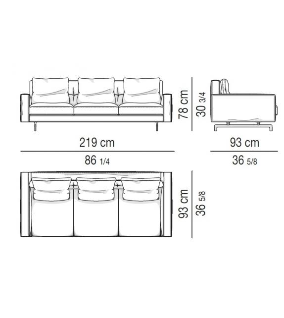 Sherman93 Low Back Sofa Minotti