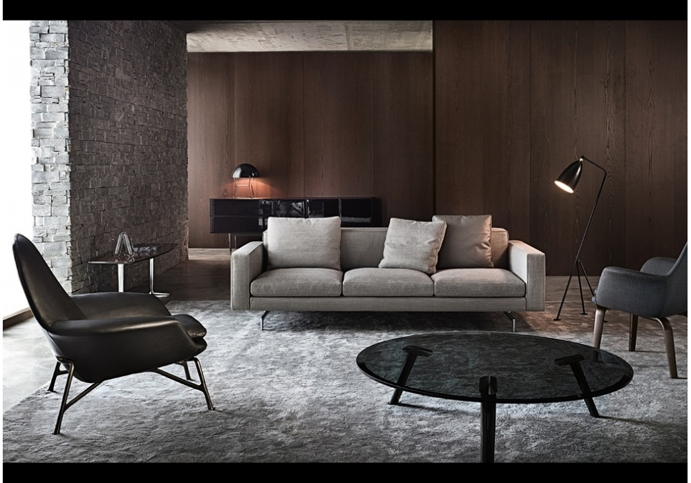 low back sofa minotti milia shop. Black Bedroom Furniture Sets. Home Design Ideas