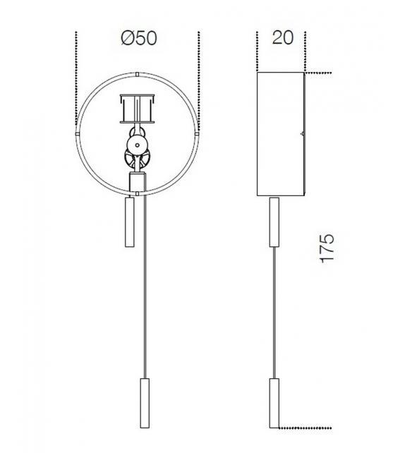 Tic Tac 14 Pendulum Clock Gallotti&Radice