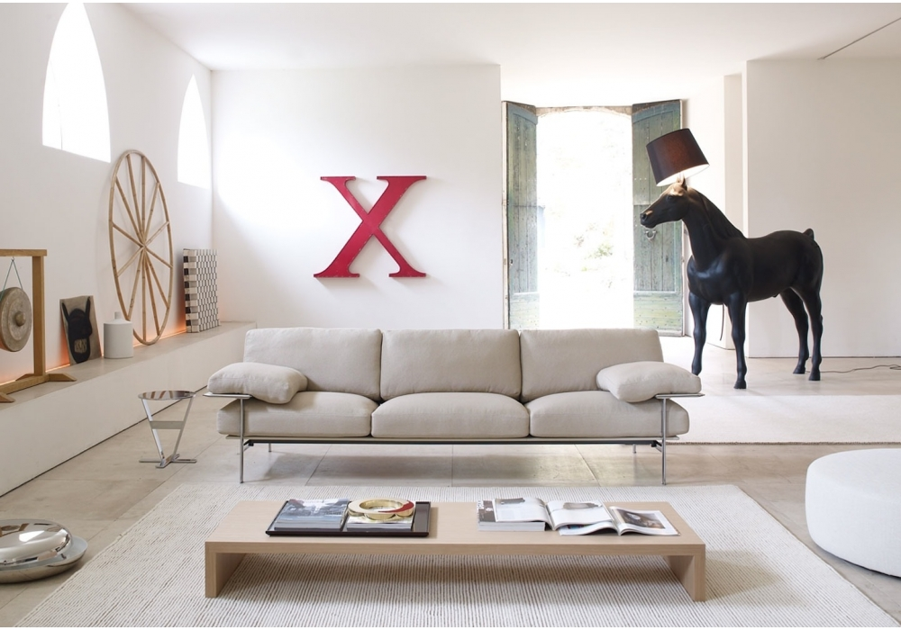 Diesis divano 3 posti b b italia milia shop - Divano diesis divani e divani ...