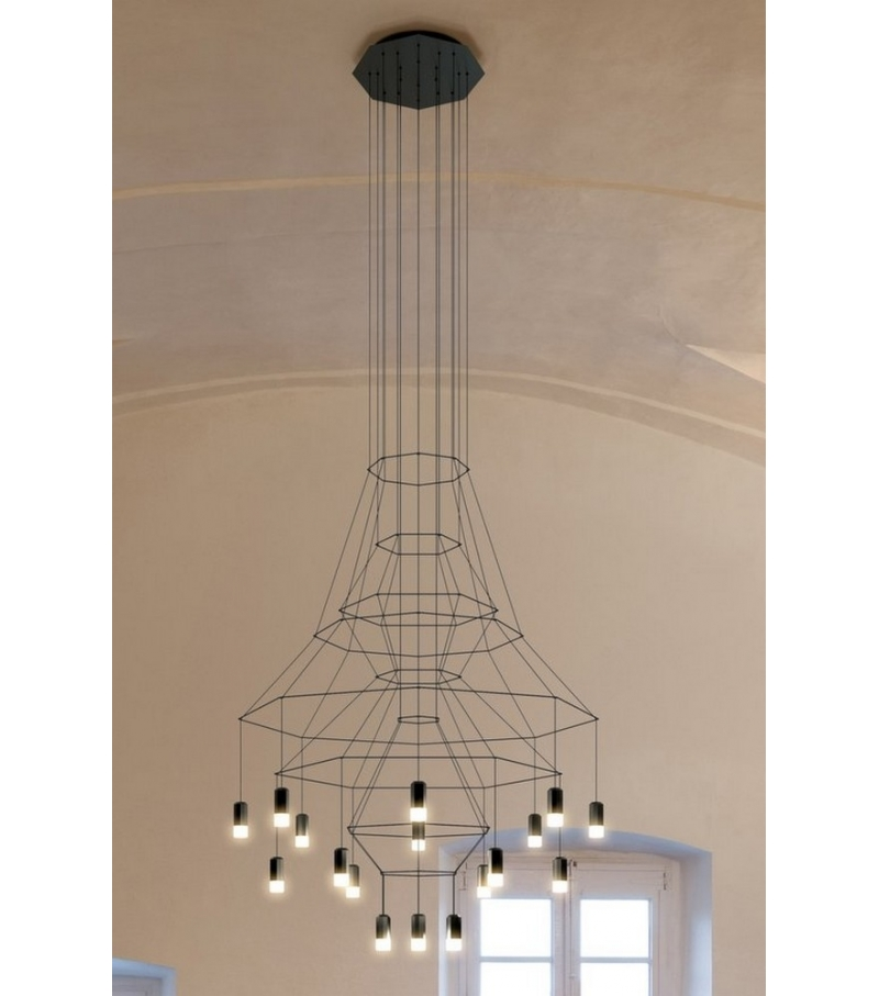 Wireflow Suspension 20 LED Vibia - Milia Shop