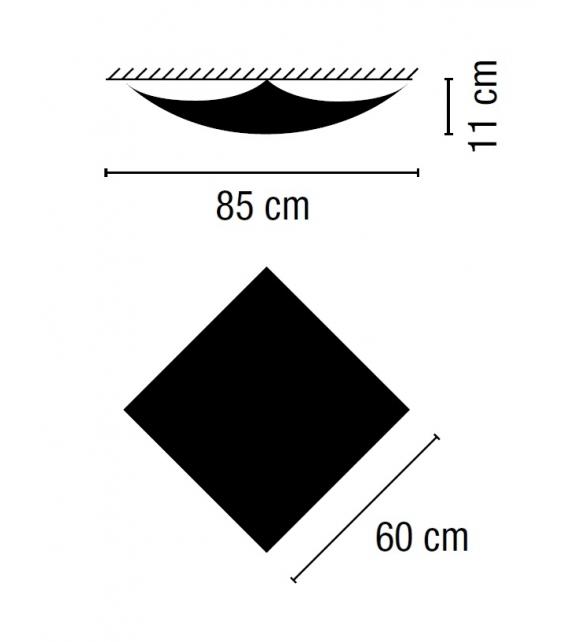 Vibia: Quadra Ice Leuchte Wand / Deckenleuchte