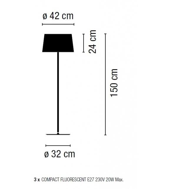 Vibia: Warm Floor Lamp