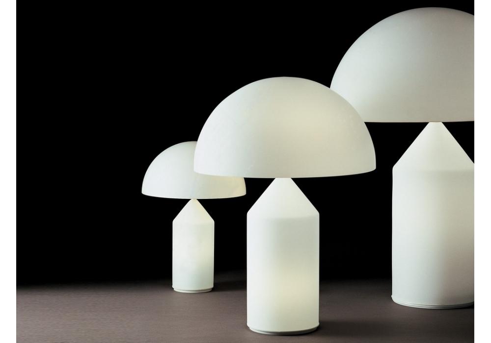 Atollo lampe de table white oluce milia shop - Lampe de table classique ...