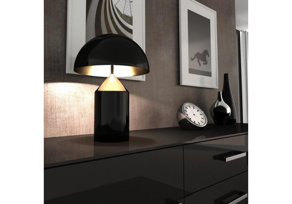 Atollo Black Table Lamp Oluce - Milia Shop
