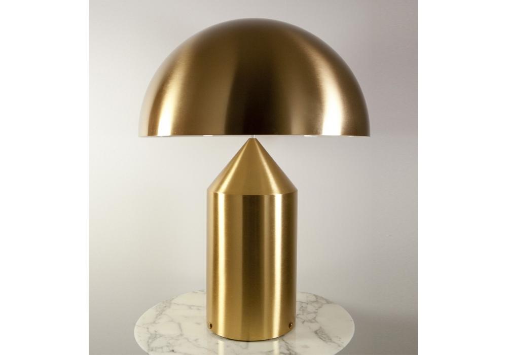 Atollo lampada da tavolo gold oluce milia shop - Lampada da tavolo atollo ...