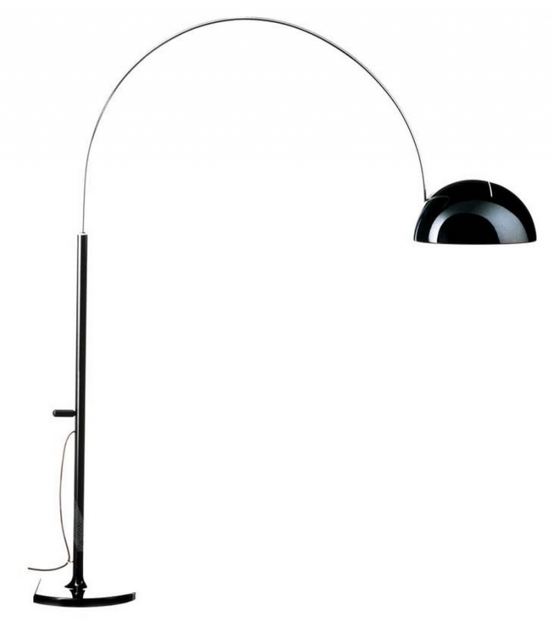 Coupè arc floor lamp oluce