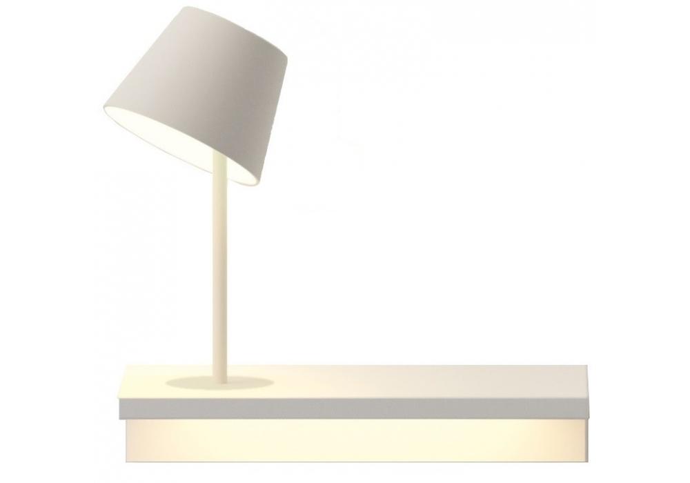 Suite lampada da parete con lampada da lettura vibia for Lampada da lettura