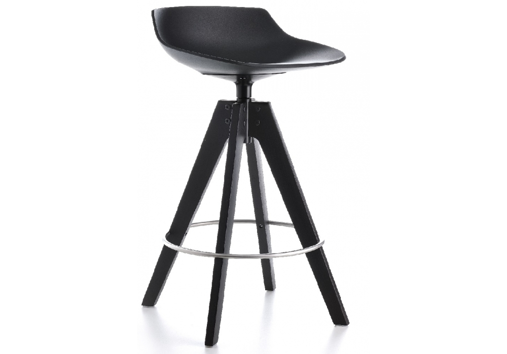 Flow stool sgabello con gambe in rovere mdf italia milia shop