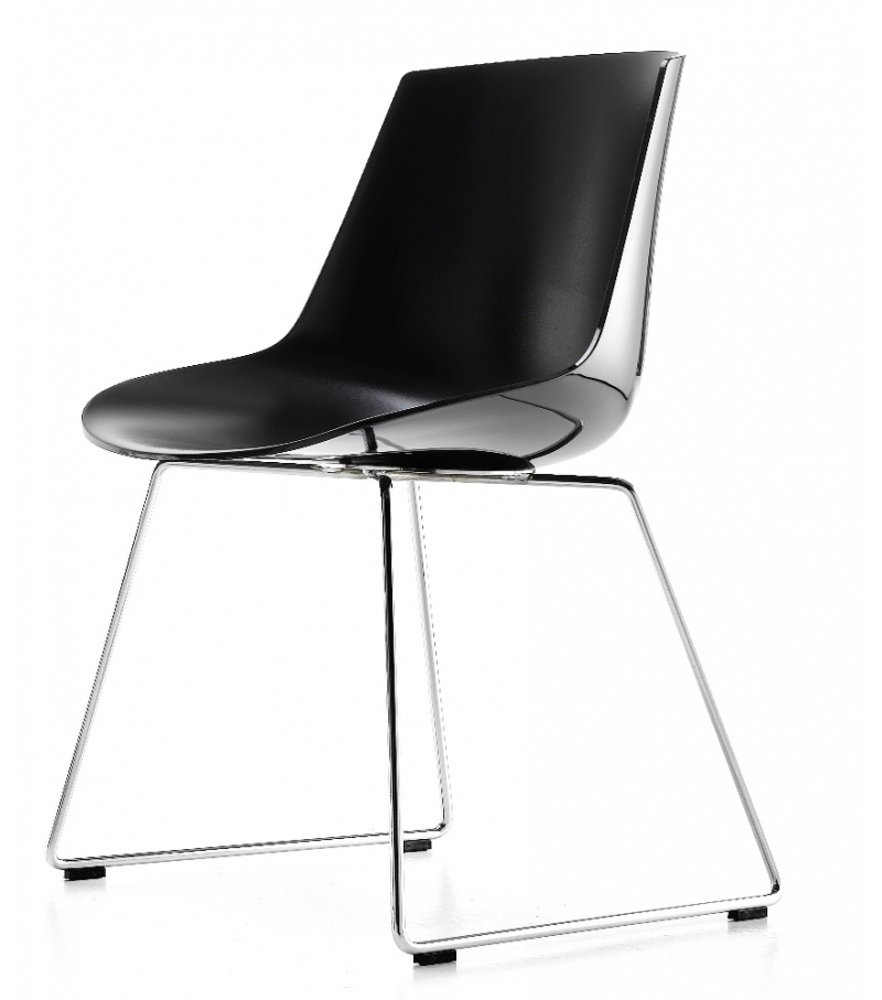 flow chair sled base mdf italia milia shop. Black Bedroom Furniture Sets. Home Design Ideas