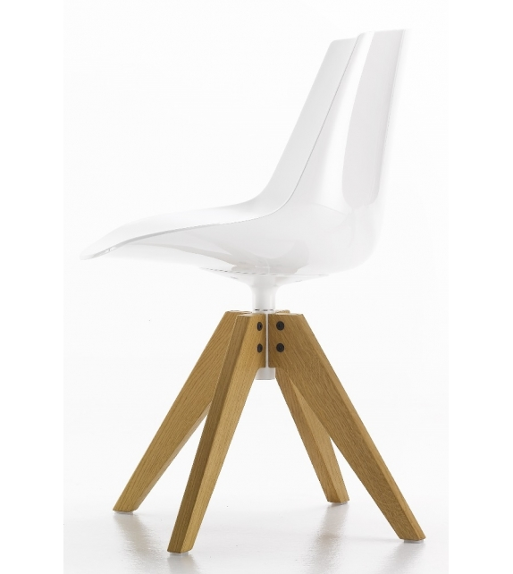 Flow Chair Chaise avec Pieds VN en Chêne MDF Italia