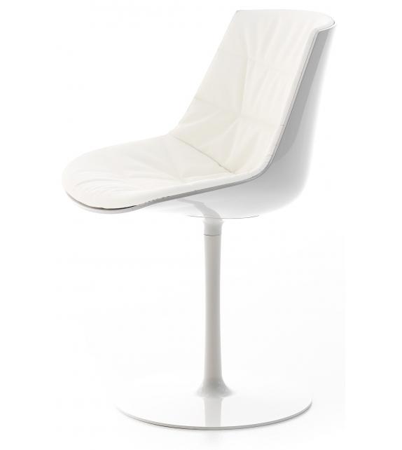 Flow Chair Chaise Rembourrée Avec Pied Central MDF Italia