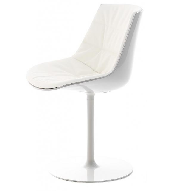 Flow Chair Sedia Imbottita su Stelo MDF Italia