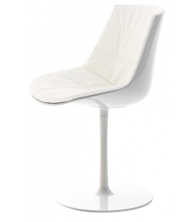 Flow Chair Chaise Rembourree Avec Pied Central MDF Italia