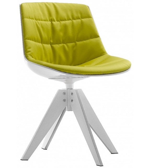 Flow Chair Padded With 4-Legged Base VN Steel MDF Italia