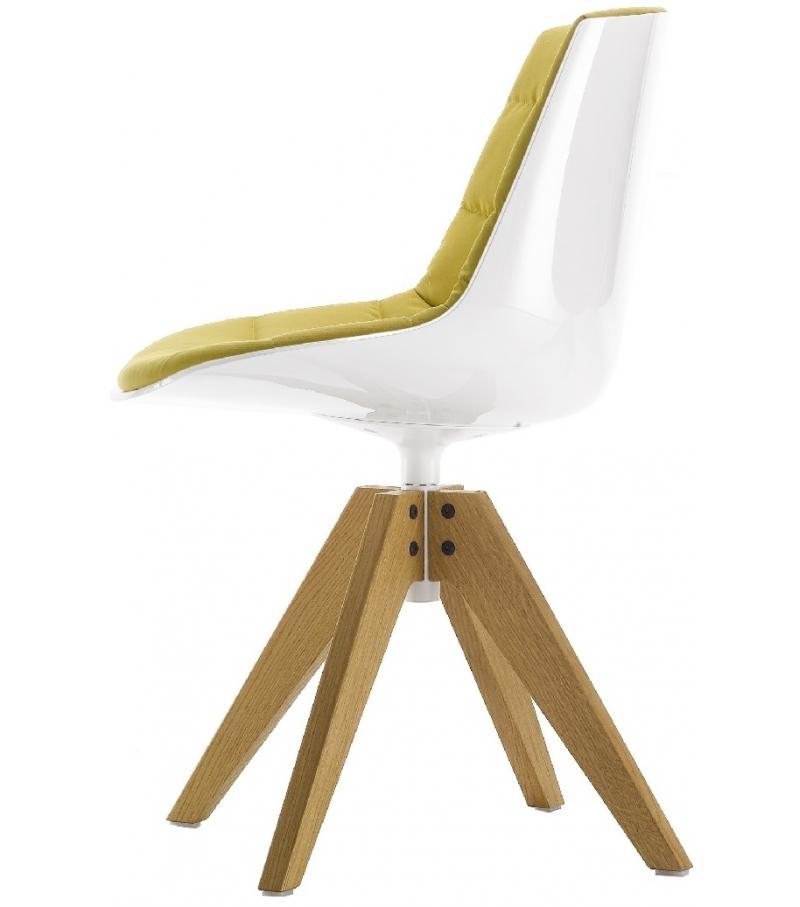 Flow Chair Sedia Imbottita Su Trespolo MDF Italia - Milia Shop
