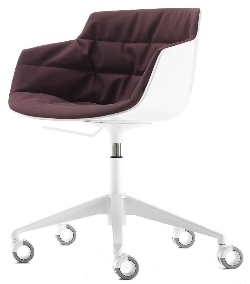 flow slim padded armchair 5 point star on castors mdf. Black Bedroom Furniture Sets. Home Design Ideas