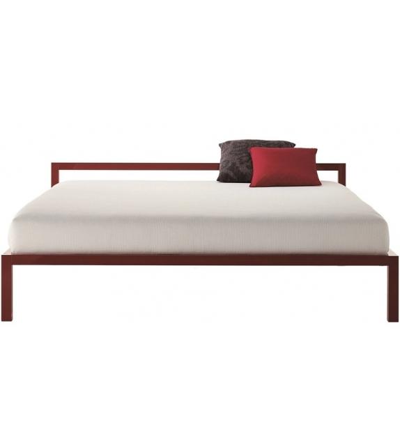 Aluminium Bed Laccato Letto MDF Italia