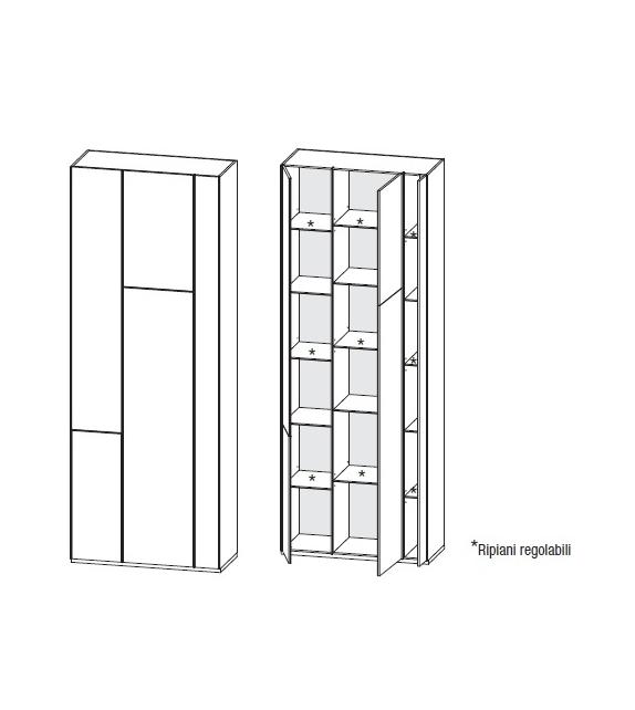 Random Cabinet Storage Unit MDF Italia