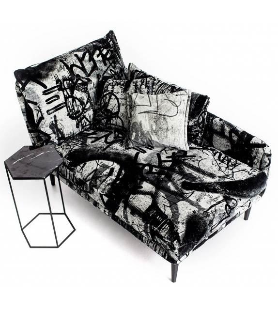 Chaise Longue Sister Ray Diesel with Moroso