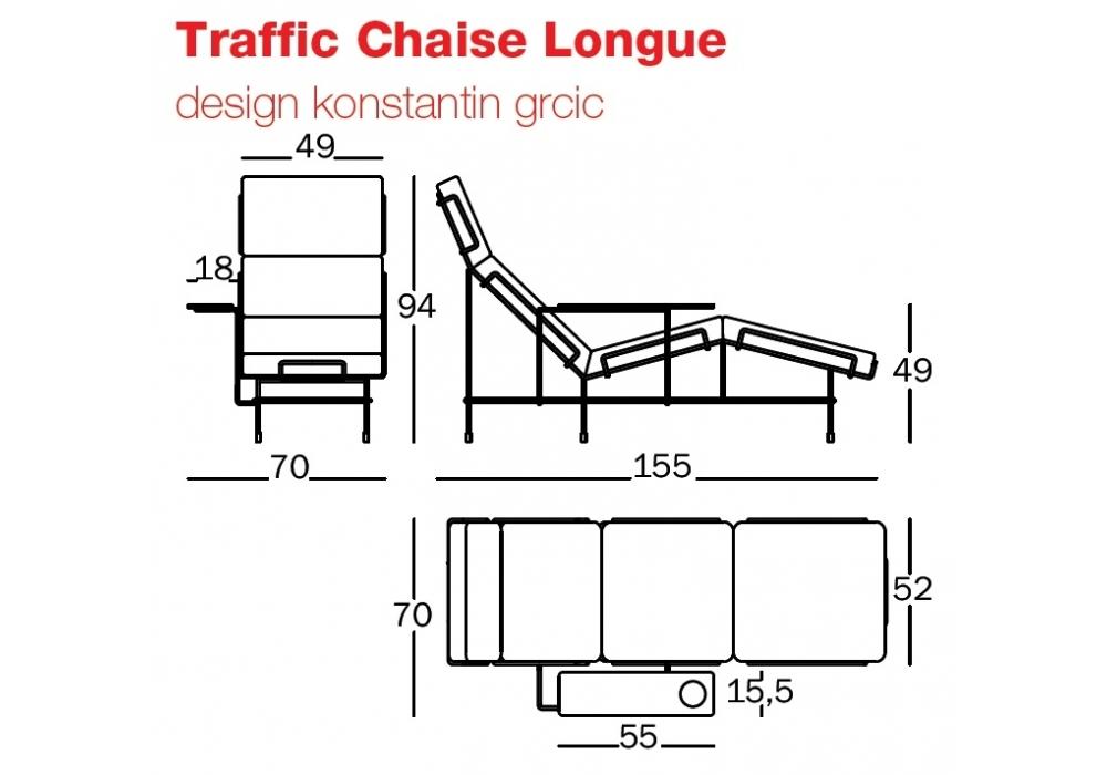 traffic chaise longue magis milia shop. Black Bedroom Furniture Sets. Home Design Ideas
