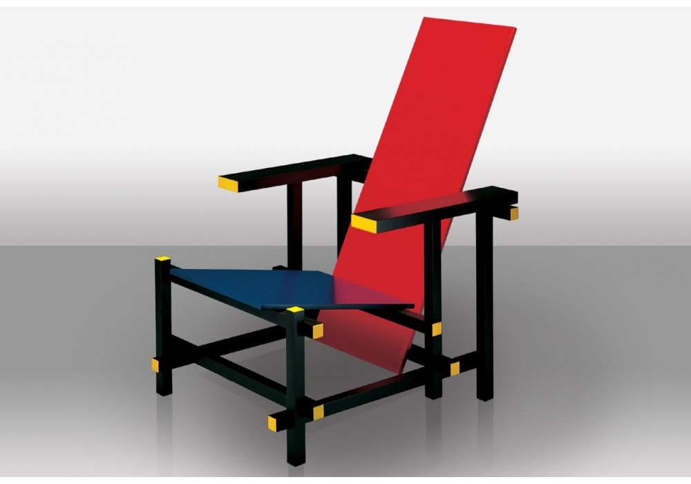 635 Red And Blue Armchair Milia Shop