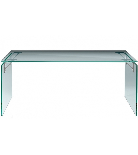 Bright Desk With Aluminium Supports Fiam