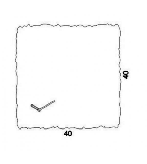 Clock_Circle Horloge Carré Progetti