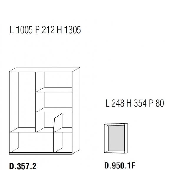 D.357.2 Bücherregal Molteni & C