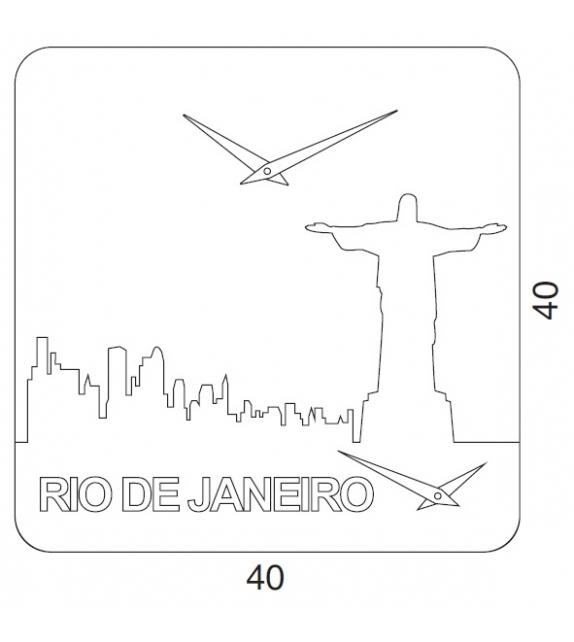 Time Travel Rio De Janeiro Clock Progetti