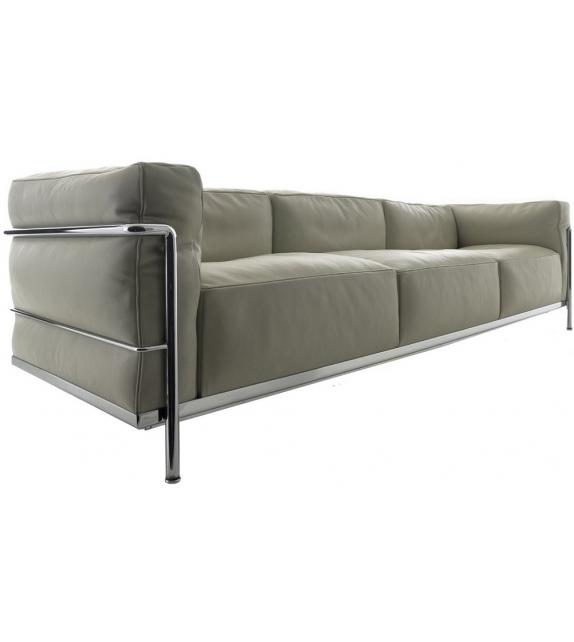 LC3 Three - Seater Sofa Cassina