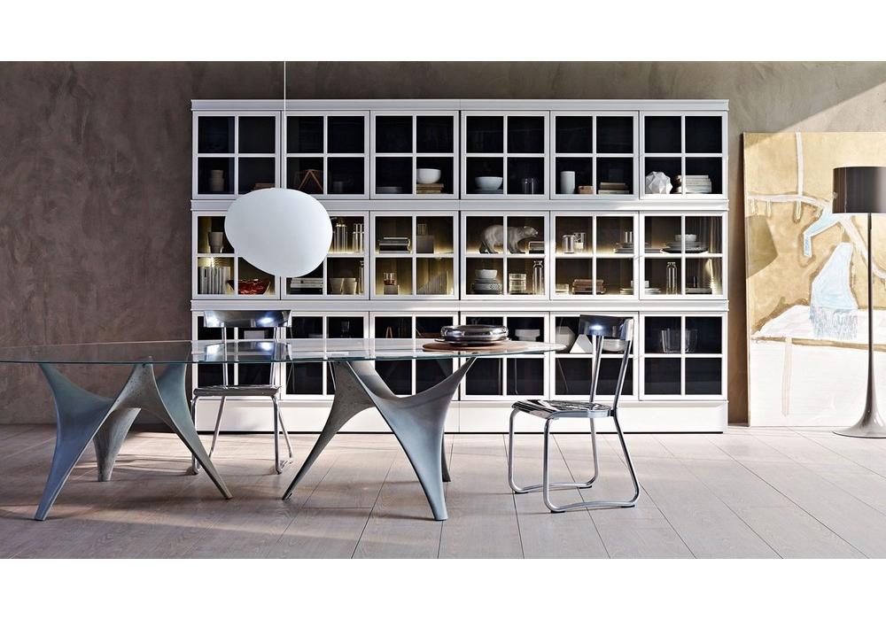 Arc tavolo ovale base doppia molteni c milia shop - I mobili di luca ...