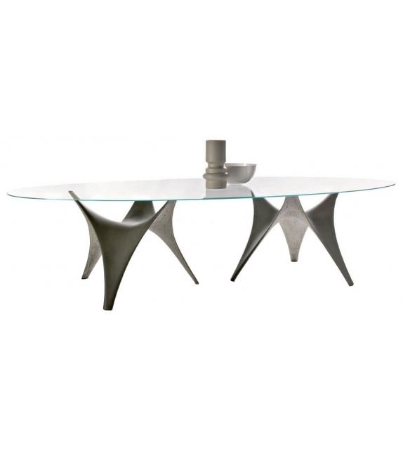 Arc Ovalen Tisch Doppelbasis Molteni & C