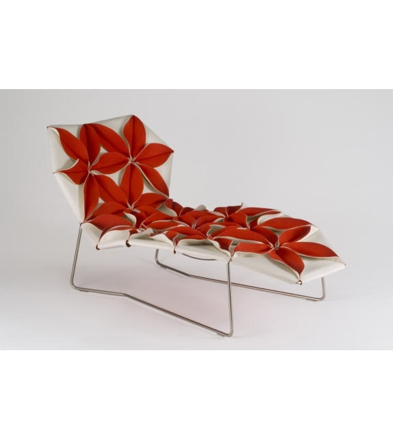 Antibodi Chaise Longue Multicolor Avec Fleurs Moroso