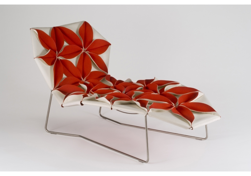 antibodi multicolor chaise longue with flowers moroso