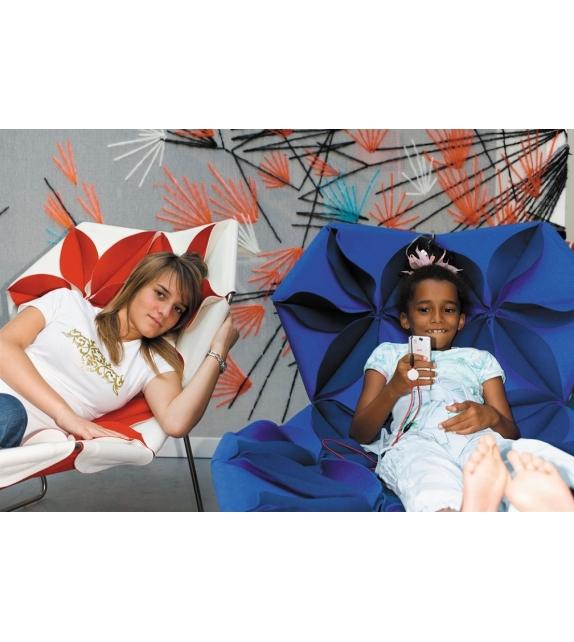 Antibodi Moroso Chaise Longue Multicolor Con Petali