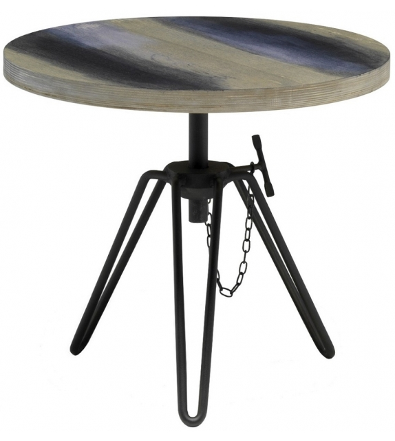Overdyed Side Table Diesel with Moroso