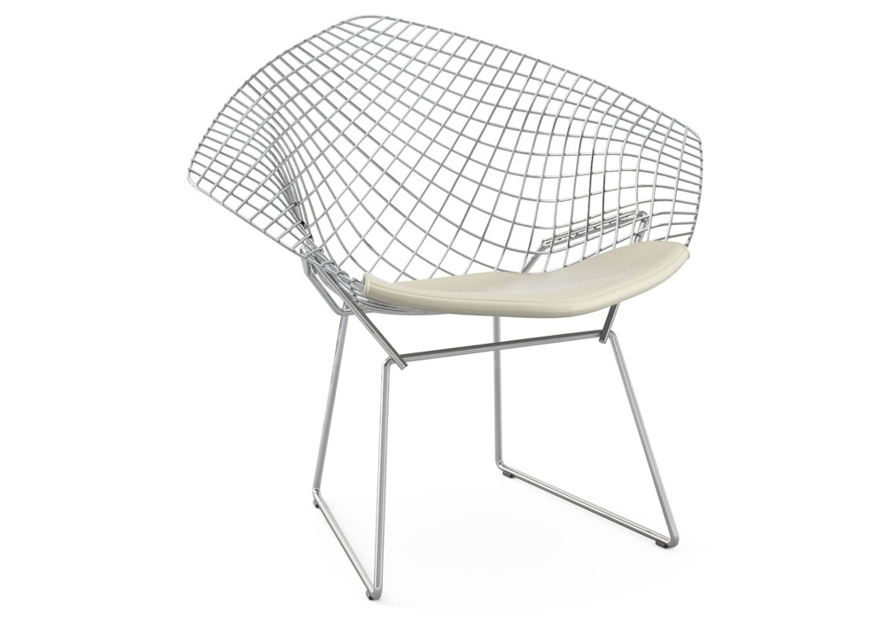 Bertoia diamond chair with cushion knoll milia shop for Chaise knoll bertoia